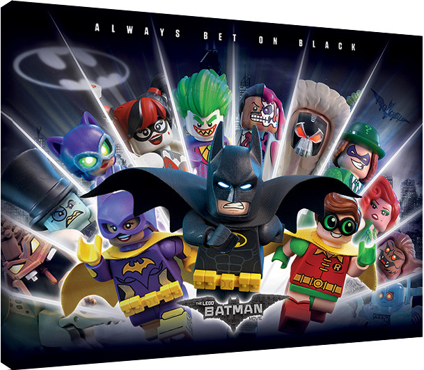 Canvas Print Lego 174 Batman Always Bet On Black Sold At