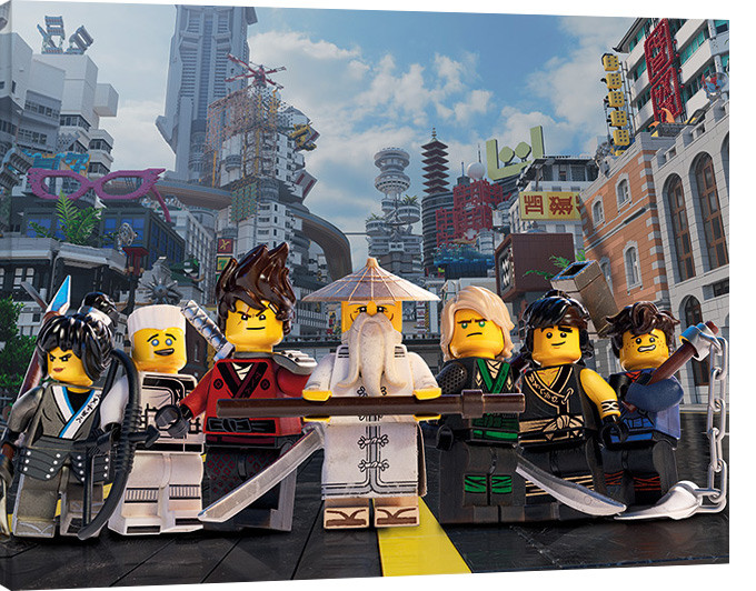 Canvas print lego ninjago movie ninja group sold at - Photo lego ninjago ...