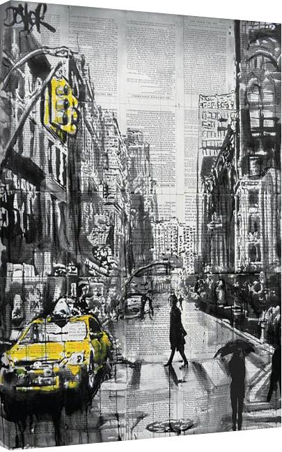 Loui Jover - Brooklyn Cab Canvas Print