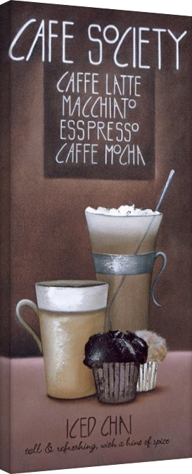 Mandy Pritty - Café Society Canvas Print