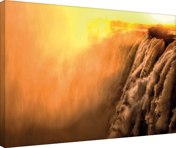 Mario Moreno - Steamy Falls Canvas Print
