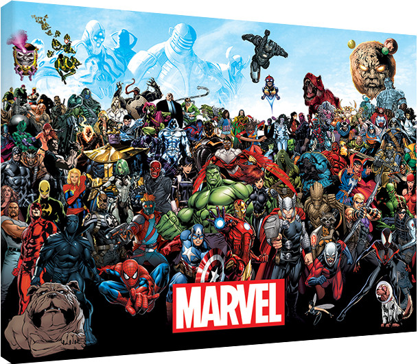 Großartig Canvas Print Marvel - Universe, Sold at Europosters.eu GL38