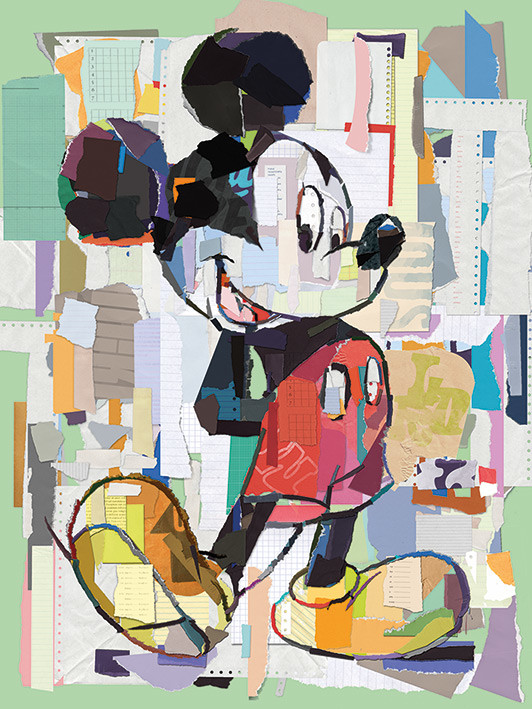 Canvas Print Mickey Mouse , Office Decoupage, Sold at