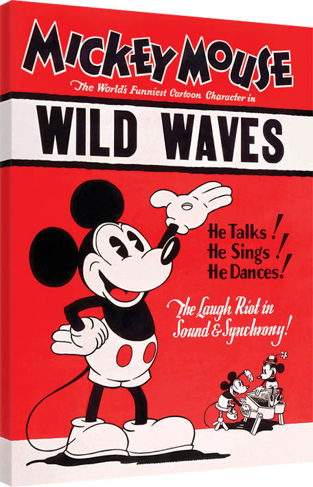 Mickey Mouse - Wild Waves Canvas Print