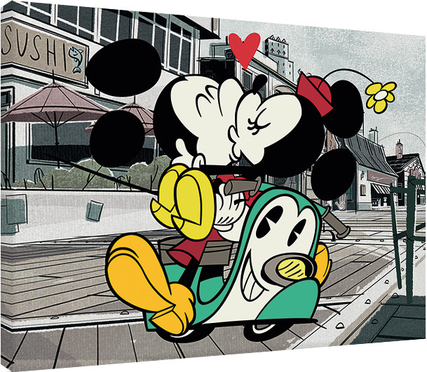 canvas print mickey shorts mickey and minnie sold at abposters com eu