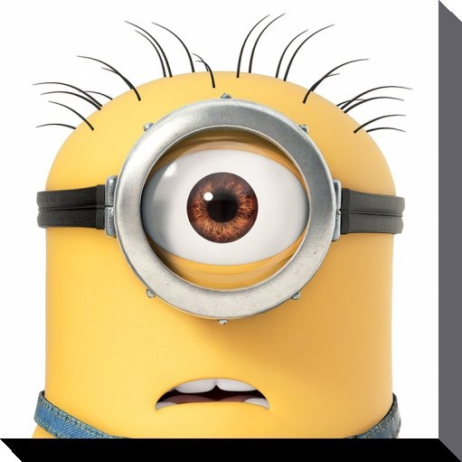 Minions (Despicable Me) - Carl Close Up Canvas Print
