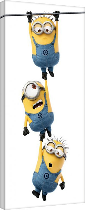 minions despicable me hanging canvas print