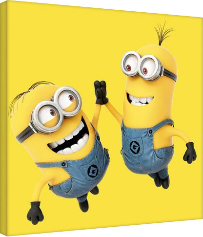 minions despicable me high 5 canvas print