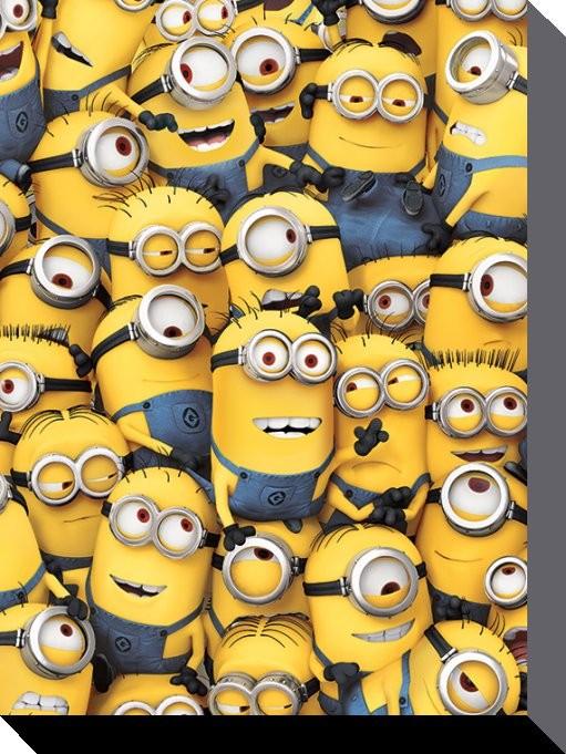 Minions (Despicable Me) - Many Minions Canvas Print