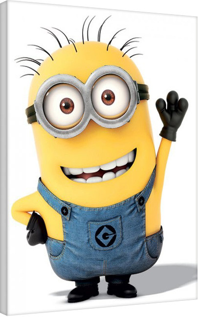 Minions (Despicable Me) - Minion Wave Canvas Print