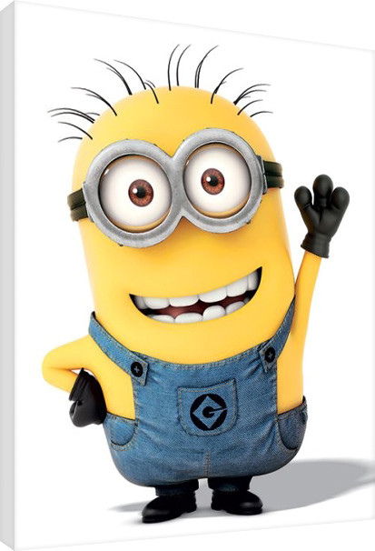 Canvas Print Minions (Despicable Me) - Minion Wave, Sold at Abposters.com.eu