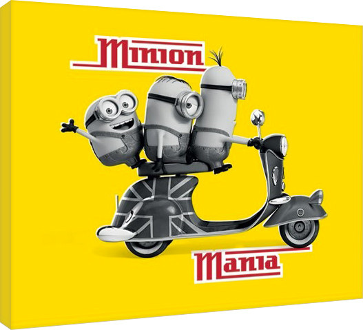 Minions - Minion Mania Yellow Canvas Print