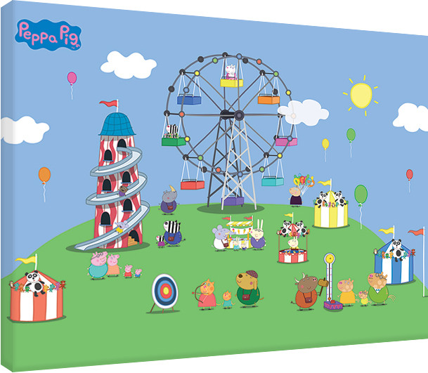 Peppa Pig   Fairground Canvas Print Part 85
