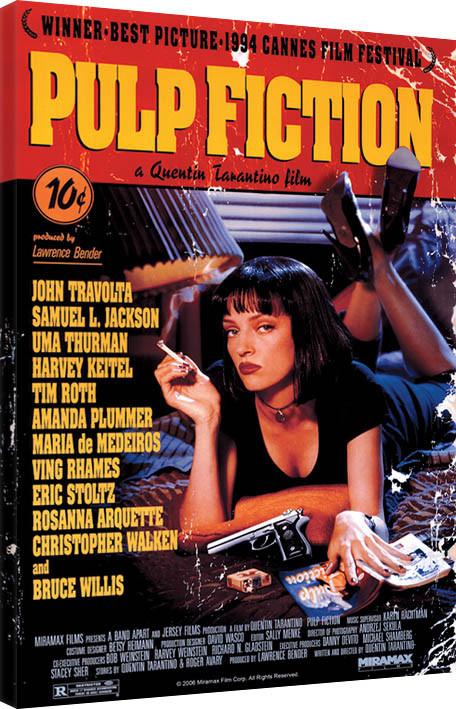 Pulp Fiction - Cover Canvas Print