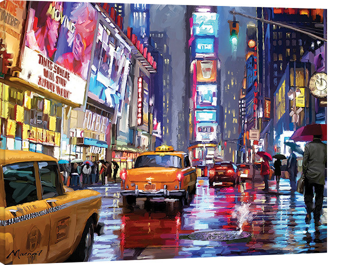 Richard Macneil - Times Square Canvas Print