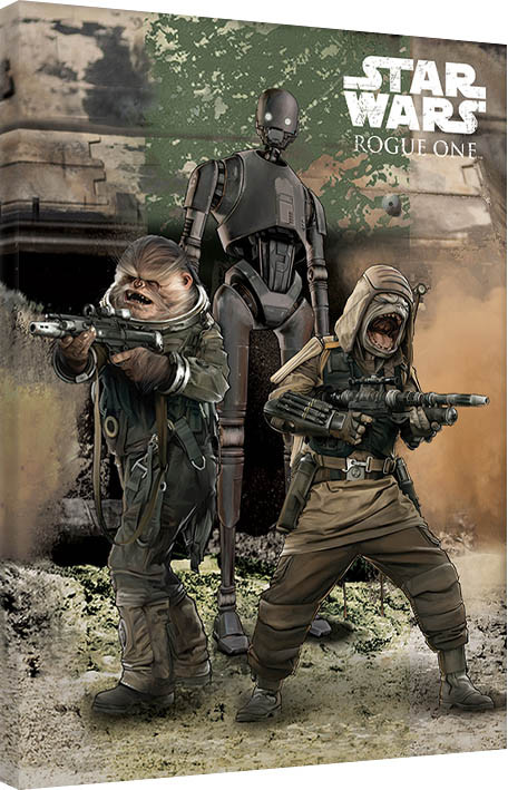 Rogue One: Star Wars Story - Pao, Bistan & K-2S0 Canvas Print