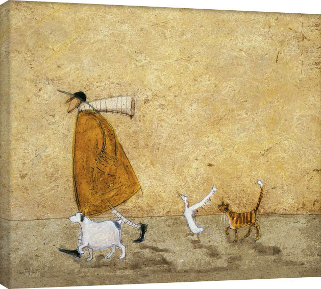 Sam Toft - Ernest, Doris, Horace And Stripes Canvas Print