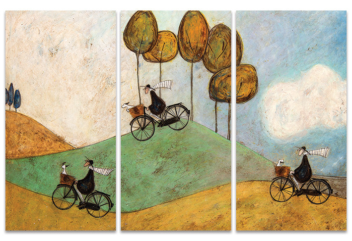 Sam Toft - Just One More Hill Canvas Print