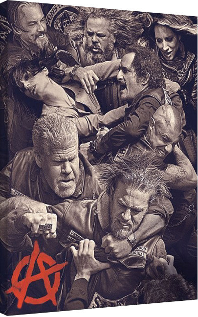 Sons of Anarchy - Fight Canvas Print