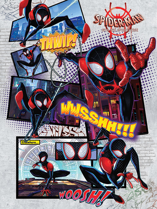 Canvas Print Spider Man Into The Spider Verse Comic Sold At