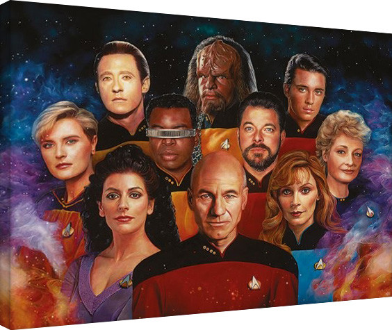 Star Trek: The Next Generation-50th Anniversary Canvas Print