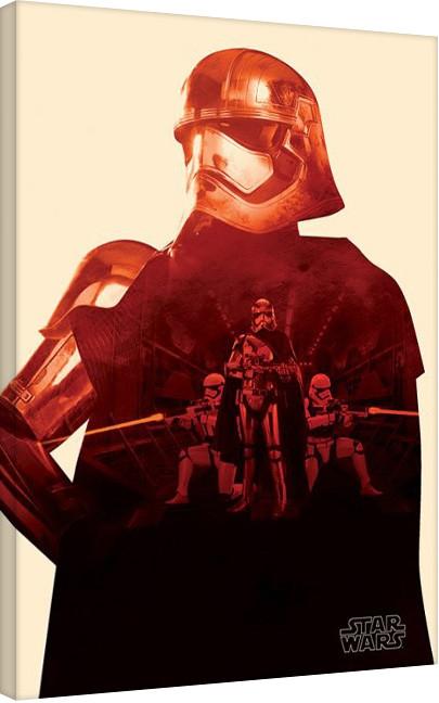 Star Wars Episode VII: The Force Awakens - Flametrooper Paint Canvas Print