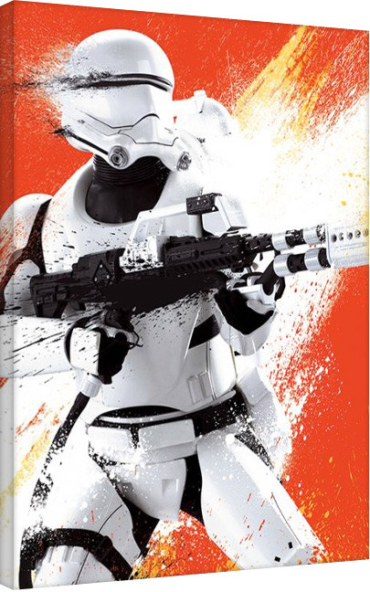 Star Wars Episode VII: The Force Awakens - Flametrooper Tri Canvas Print