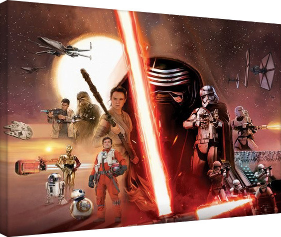 Star Wars Episode VII: The Force Awakens - Galaxy Canvas Print