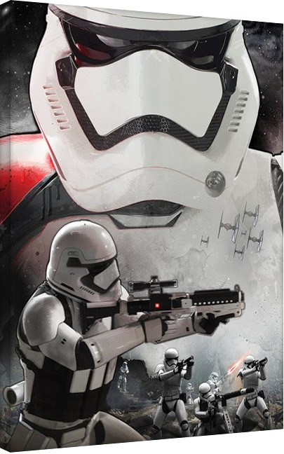 Star Wars Episode VII: The Force Awakens - Stormtrooper Art Canvas Print