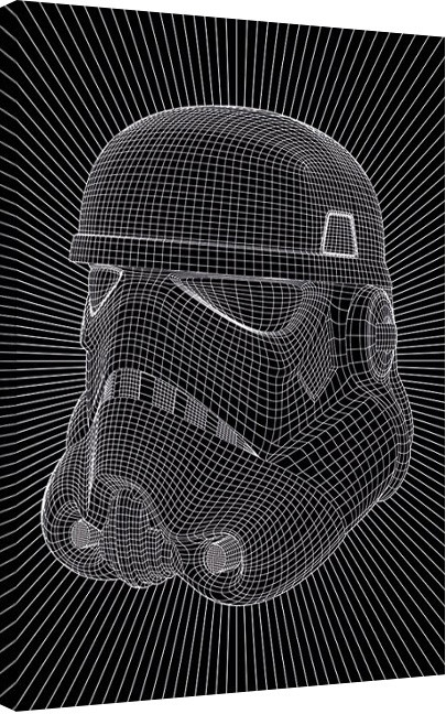 Star Wars - Stormtrooper Wire Canvas Print