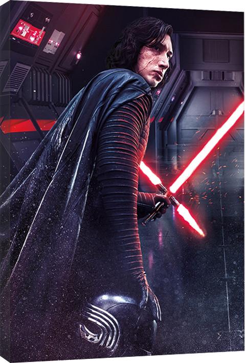 Star Wars The Last Jedi - Kylo Ren Rage Canvas Print