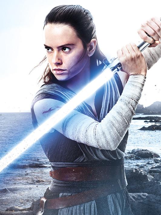 Star Wars The Last Jedi - Rey Engage Canvas Print