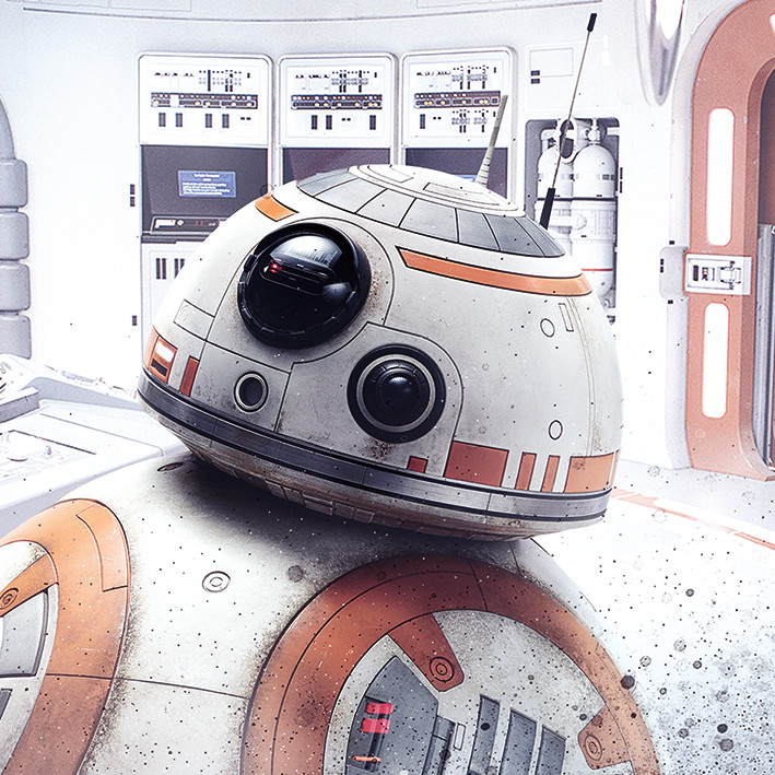 Star Wars The Last Jedi - Rey Lightsaber Guard Canvas Print