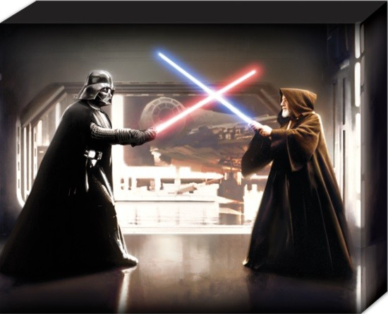 Star Wars - Vader vs Obi Wan Canvas Print