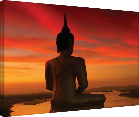 Stuart Meikle - Sun Setting over the Mekong Canvas Print