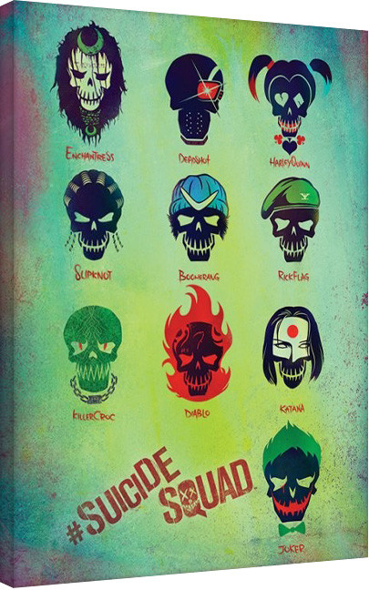Suicide Squad-Roll Call Canvas Print