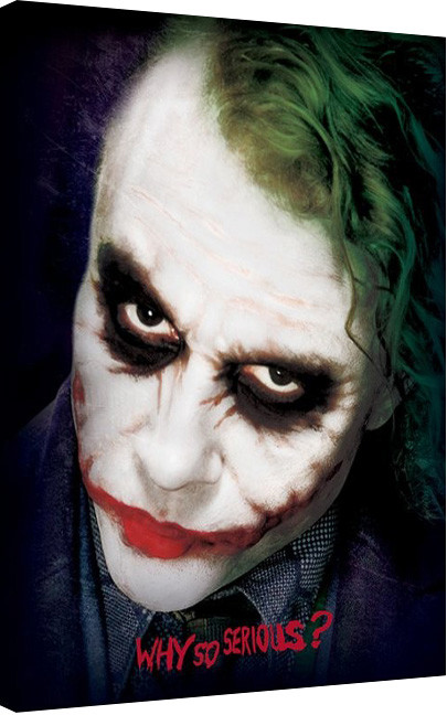 The Dark Knight - Joker Face Canvas Print