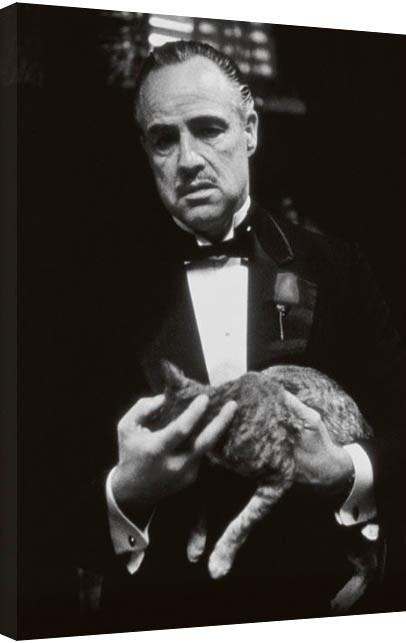 The Godfather - cat (B&W) Canvas Print