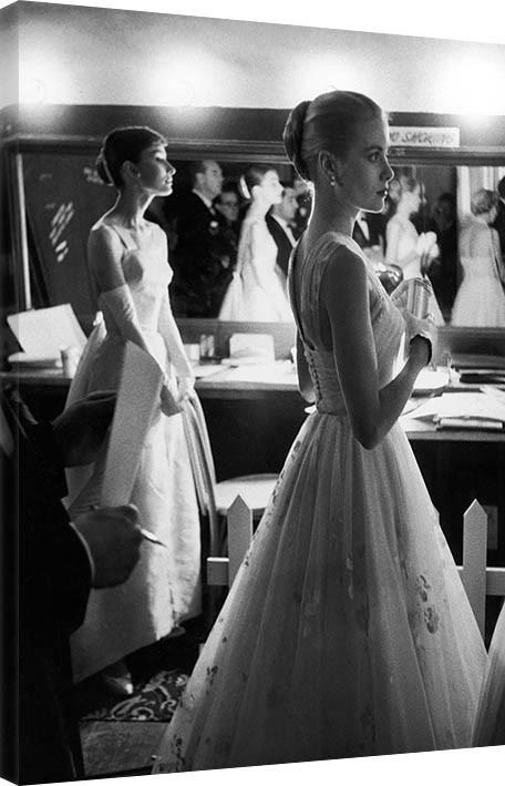 Time Life - Audrey Hepburn & Grace Kelly Canvas Print