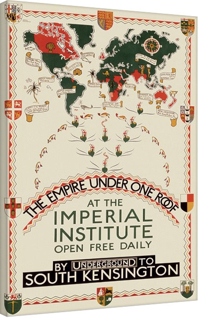 Transport For London -The Empire Under One Roof, 1927 Canvas Print