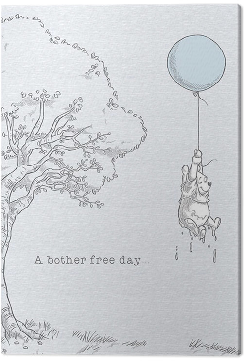 Winnie The Pooh - Bother Free Canvas Print