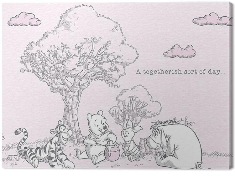 Winnie The Pooh - Togetherish Canvas Print