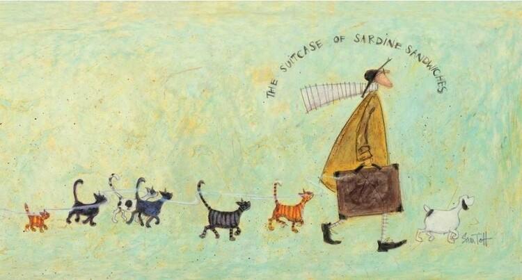 Canvas-taulu Sam Toft - The suitcase of sardine sandwiches