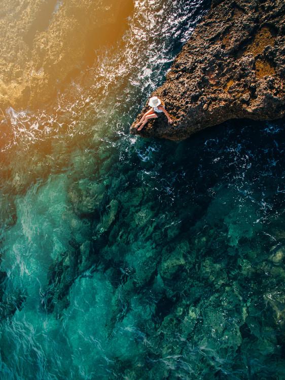 Sunset at coast Canvas-taulu