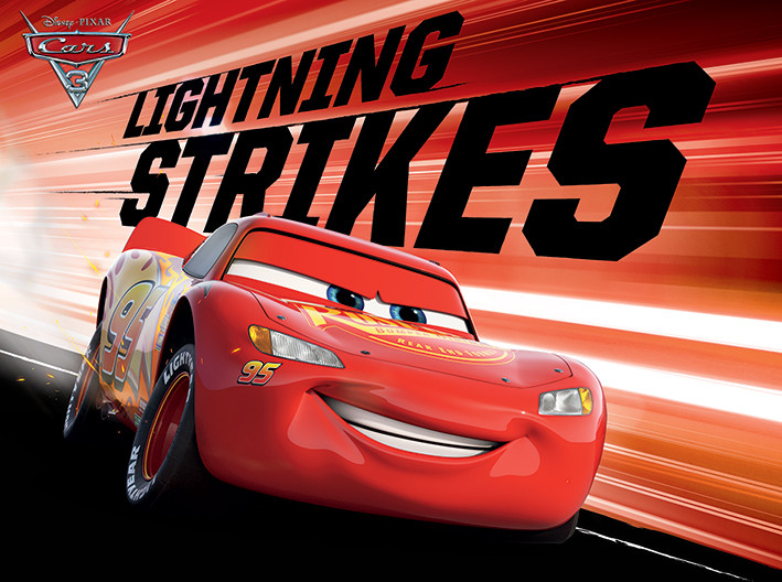 Autot 3 - Lightning Strikes Canvas-taulu