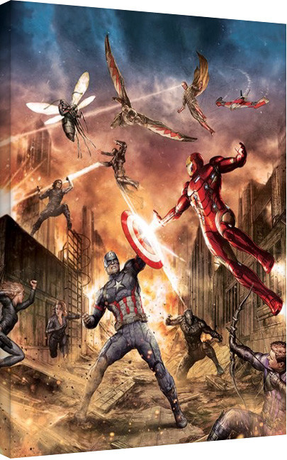 Captain America: Civil War - Group Fight Canvas-taulu