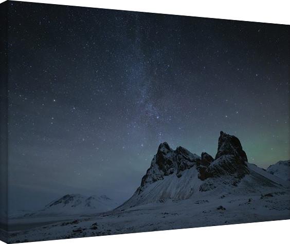 David Clapp - Starry Night, Eystrahorn Mountains, Iceland Canvas-taulu