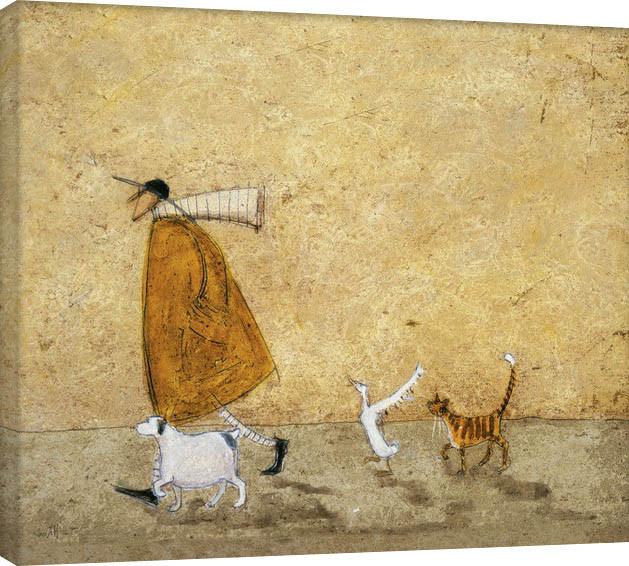 Sam Toft - Ernest, Doris, Horace And Stripes Canvas-taulu