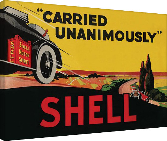Shell - Carried Unanimously, 1923 Canvas-taulu