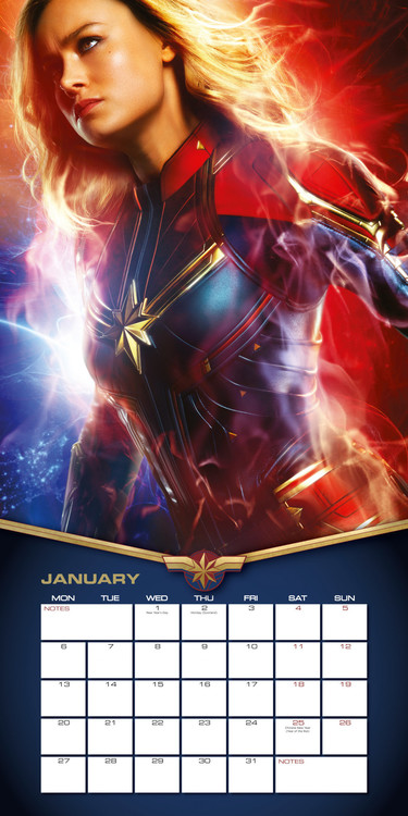 Calendrier Ironman 2021 Captain Marvel   Wall Calendars | Large selection
